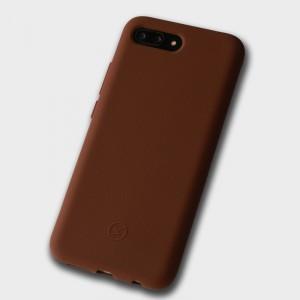 Силиконовый матовый непрозрачный чехол с нескользящим софт-тач покрытием для Huawei Honor 10 Коричневый
