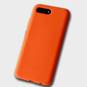 Силиконовый матовый непрозрачный чехол с нескользящим софт-тач покрытием для Huawei Honor 10 Оранжевый
