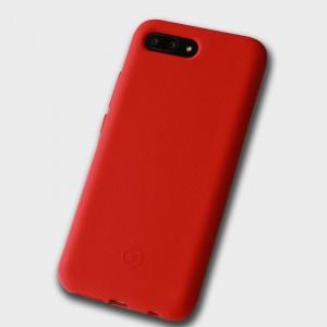 Силиконовый матовый непрозрачный чехол с нескользящим софт-тач покрытием для Huawei Honor 10 Красный