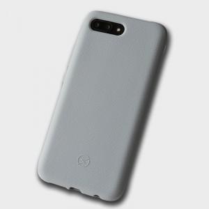 Силиконовый матовый непрозрачный чехол с нескользящим софт-тач покрытием для Huawei Honor 10 Серый