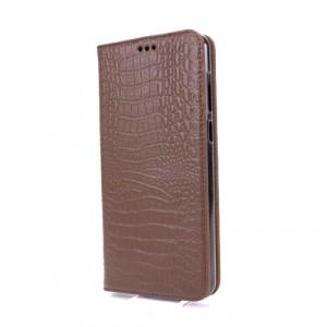 Кожаный чехол горизонтальная книжка подставка (премиум нат. кожа рептилии) для ASUS ZenFone Max Pro M1