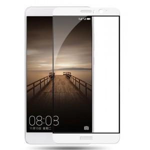 Полноэкранное ультратонкое износоустойчивое сколостойкое олеофобное защитное стекло-пленка для Huawei Mate 9 Белый
