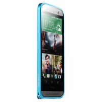 Металлический бампер для HTC One (M8) Голубой