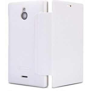 Чехол флип на пластиковой основе серия Colors для Nokia X2 Белый