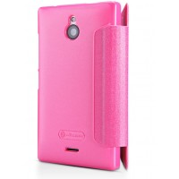 Чехол флип на пластиковой основе серия Colors для Nokia X2 Пурпурный