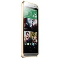 Металлический бампер для HTC One (M8) Бежевый