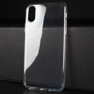 Силиконовый глянцевый транспарентный чехол для Iphone X 10/XS