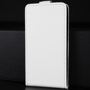 Чехол вертикальная книжка на силиконовой основе на магнитной защелке для Iphone X 10/XS Белый