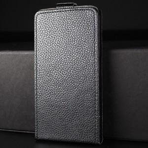 Чехол вертикальная книжка на силиконовой основе на магнитной защелке для Iphone X 10/XS Черный