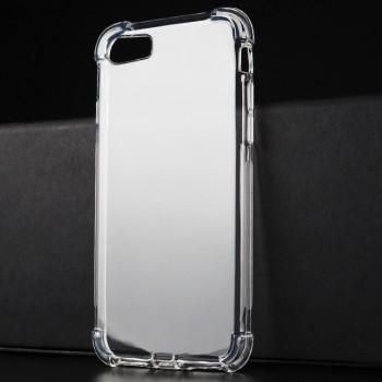 Силиконовый глянцевый полупрозрачный чехол с улучшенной защитой элементов корпуса (заглушки) для Iphone 7/8