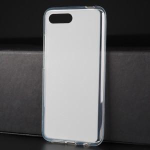 Силиконовый матовый полупрозрачный чехол для Huawei Honor 10 Белый