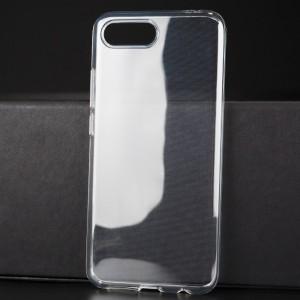 Силиконовый глянцевый транспарентный чехол для Huawei Honor 10