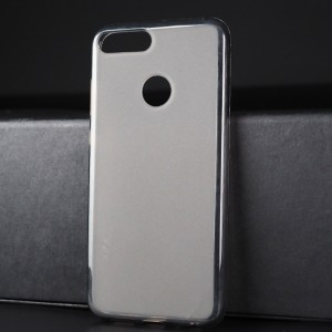 Силиконовый матовый полупрозрачный чехол для Huawei Honor 9 Lite Серый