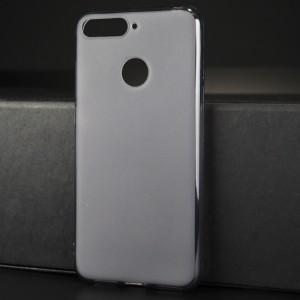 Силиконовый матовый полупрозрачный чехол для Huawei Honor 7A Pro/7C/Y6 Prime (2018) Серый