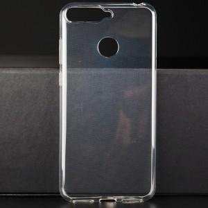 Силиконовый глянцевый транспарентный чехол для Huawei Honor 7A Pro/7C/Y6 Prime (2018)