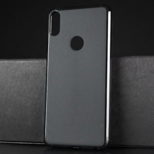 Силиконовый матовый непрозрачный чехол для ASUS ZenFone Max Pro M1 Черный