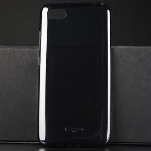 Оригинальный силиконовый глянцевый полупрозрачный чехол для Xiaomi RedMi 6A Черный