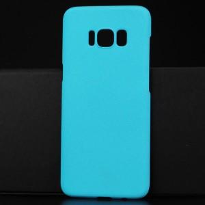 Пластиковый непрозрачный матовый чехол для Samsung Galaxy S8 Голубой