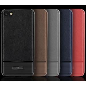 Силиконовый матовый непрозрачный чехол с улучшенной защитой элементов корпуса и текстурным покрытием Кожа для Huawei Honor 7A/Y5 Prime (2018)