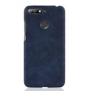Чехол накладка текстурная отделка Кожа для Huawei Honor 7C/7A Pro/Y6 Prime (2018) Синий