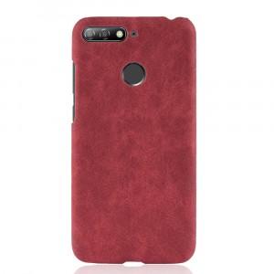 Чехол накладка текстурная отделка Кожа для Huawei Honor 7C/7A Pro/Y6 Prime (2018) Красный