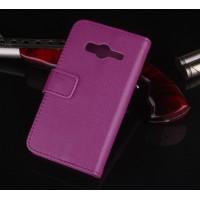 Чехол портмоне подставка с защелкой для Samsung Galaxy Ace 4 Фиолетовый