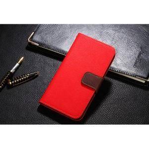 Чехол портмоне подставка на силиконовой основе с отсеком для карт на магнитной защелке для ASUS ZenFone Max Pro M1 Красный