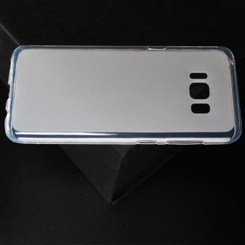 Силиконовый матовый полупрозрачный чехол для Samsung Galaxy S8