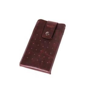 Кожаный чехол мешок с застежкой и крепежом на пояс для Samsung Galaxy Note 4 Коричневый