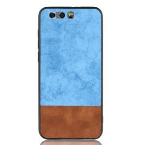 Силиконовый матовый непрозрачный чехол с текстурным покрытием Ткань для Huawei Honor 9 Голубой