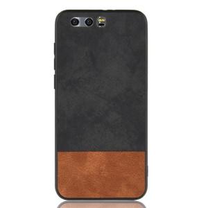 Силиконовый матовый непрозрачный чехол с текстурным покрытием Ткань для Huawei Honor 9 Черный