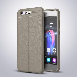 Силиконовый матовый непрозрачный чехол с текстурным покрытием Кожа для Huawei Honor 9