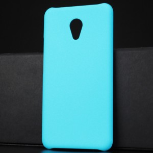 Пластиковый непрозрачный матовый чехол для Meizu M5 Голубой