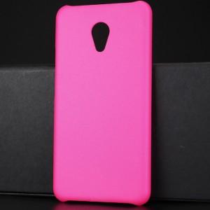 Пластиковый непрозрачный матовый чехол для Meizu M5 Пурпурный