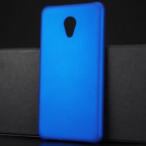 Пластиковый непрозрачный матовый чехол для Meizu M5 Синий