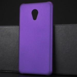 Пластиковый непрозрачный матовый чехол для Meizu M5 Фиолетовый