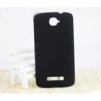 Пластиковый матовый чехол для Alcatel One Touch Pop C7 Черный