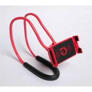 Многофункциональный гибкий держатель на шею для гаджетов до 7 дюймов Красный