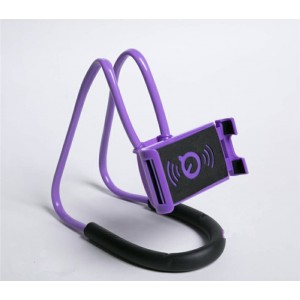 Многофункциональный гибкий держатель на шею для гаджетов до 7 дюймов Фиолетовый