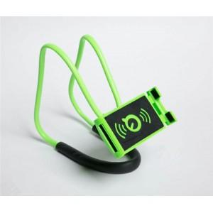 Многофункциональный гибкий держатель на шею для гаджетов до 7 дюймов Зеленый