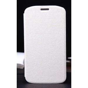 Текстурный чехол флип-подставка для Alcatel One Touch Pop C7 Белый