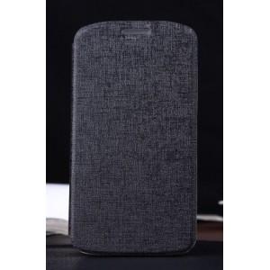 Текстурный чехол флип-подставка для Alcatel One Touch Pop C7 Черный