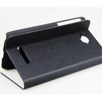 Чехол флип-подставка с отделениями для карт Alcatel One Touch Pop C7 Черный