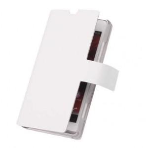 Чехол-флип с отделением под карты для Sony Xperia ZL Белый