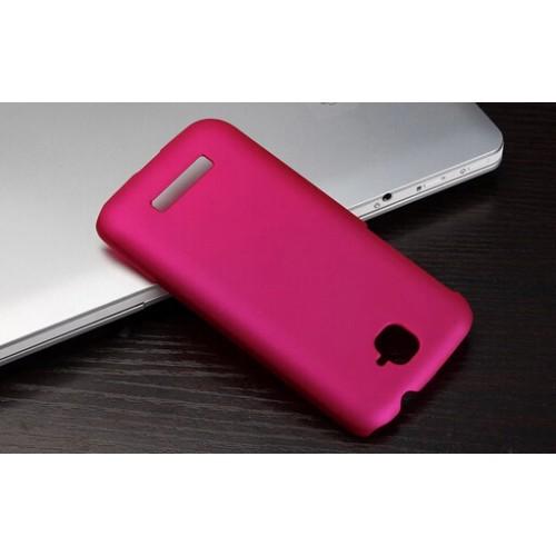Пластиковый матовый металлик чехол для Alcatel One Touch Pop C7