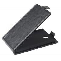 Чехол вертикальная книжка с магнитной застежкой для Alcatel One Touch Pop C7 Черный