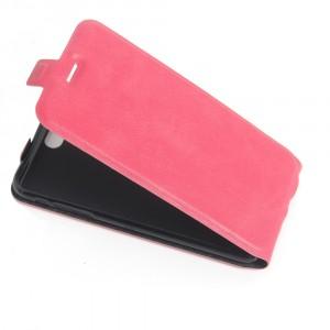 Чехол вертикальная книжка на силиконовой основе с отсеком для карт на магнитной защелке для Iphone 5/5s/SE Пурпурный