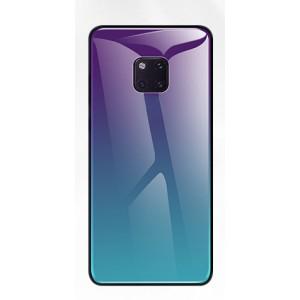 Силиконовый матовый непрозрачный чехол с стеклянной накладкой для Huawei Mate 20 Pro