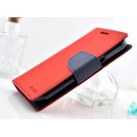 Чехол портмоне с защелкой на силиконовой основе для Samsung Galaxy Core Красный