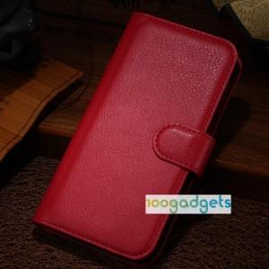 Чехол портмоне подставка с защелкой для Alcatel One Touch Idol Alpha Красный